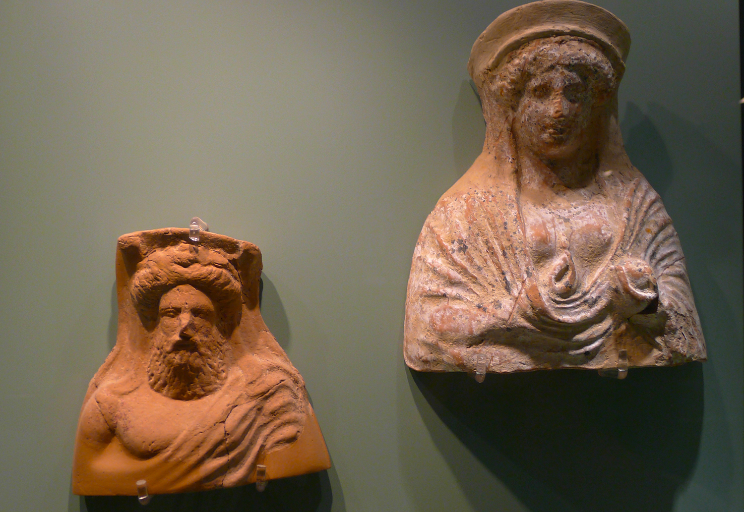 These sculptures were made a thousand years before the golden age in Greece
