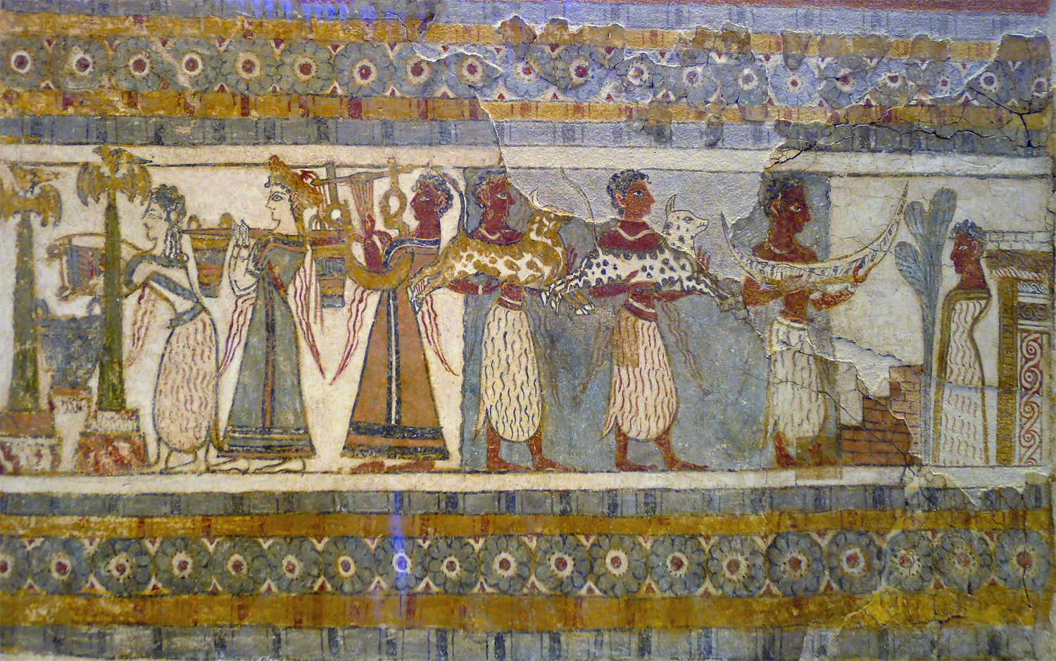 Fresco of life in Knossos