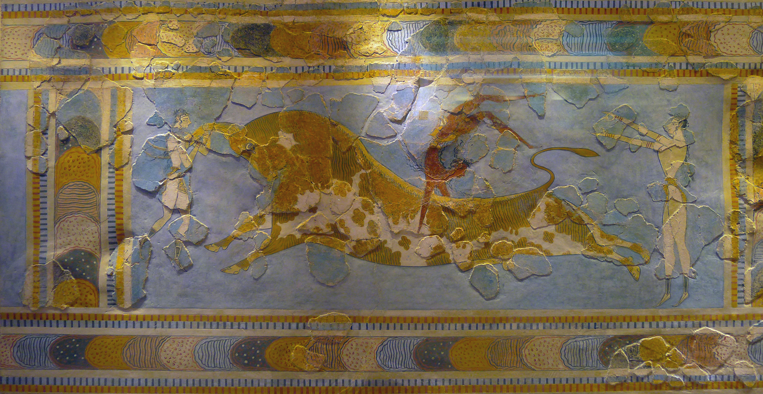 Bull jumping was apparently a favored sport among the Minoans