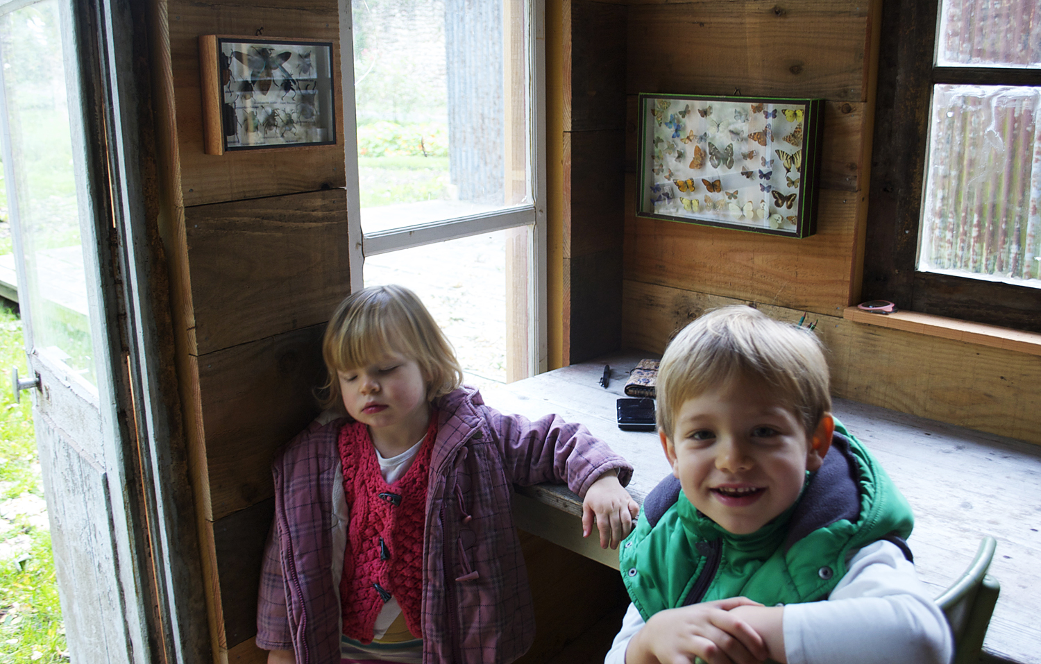 """The garden shack is Quinn's """"bug house"""" where he can study and draw wildlife, which he is very interested in"""