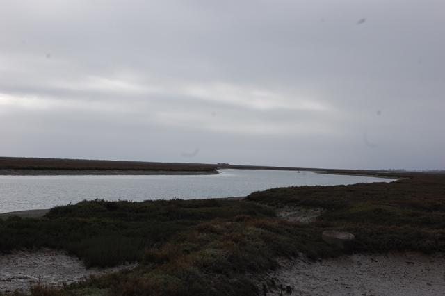 Tavira river where it meets the sea