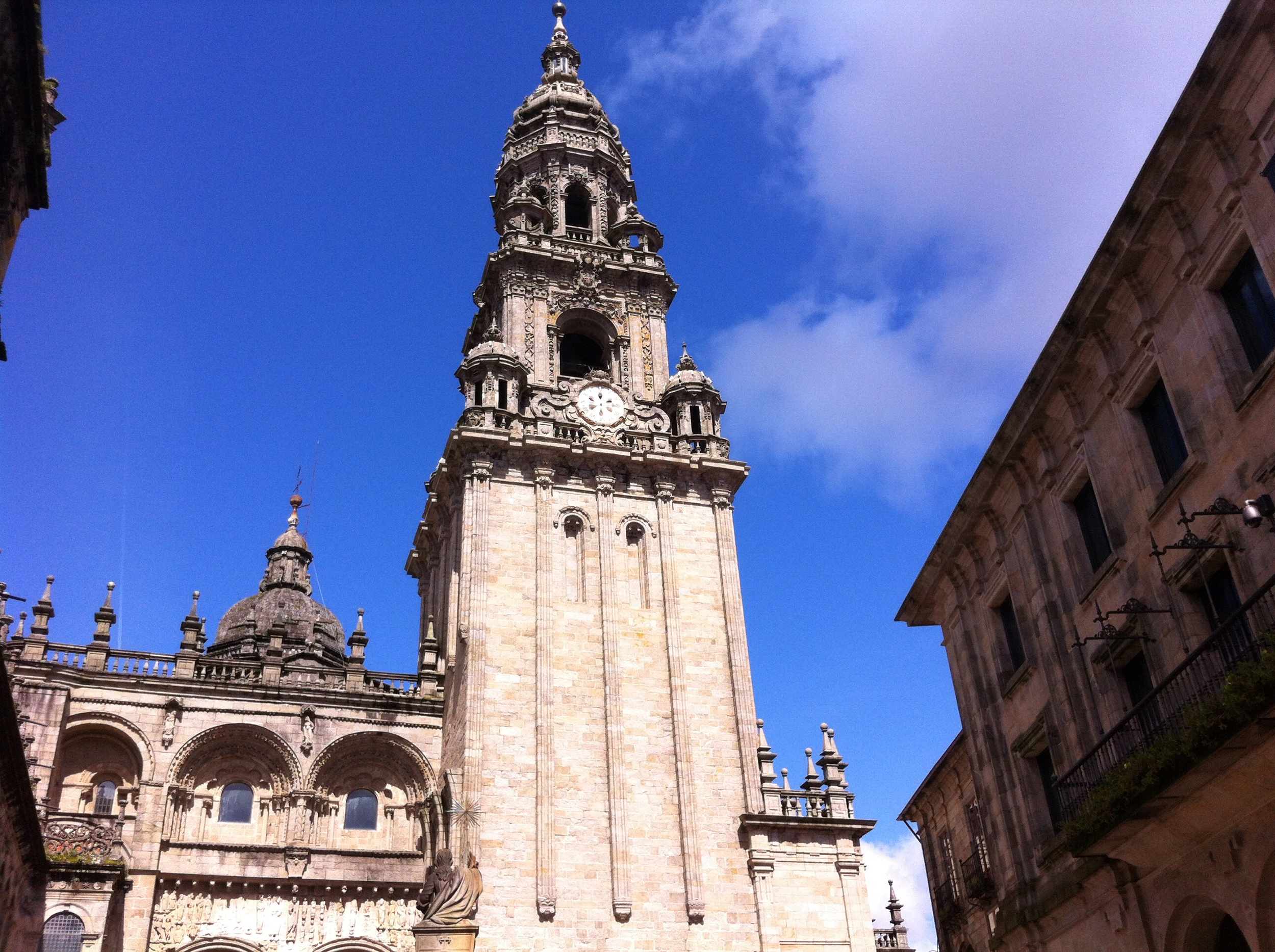 The cathedral in Santiago