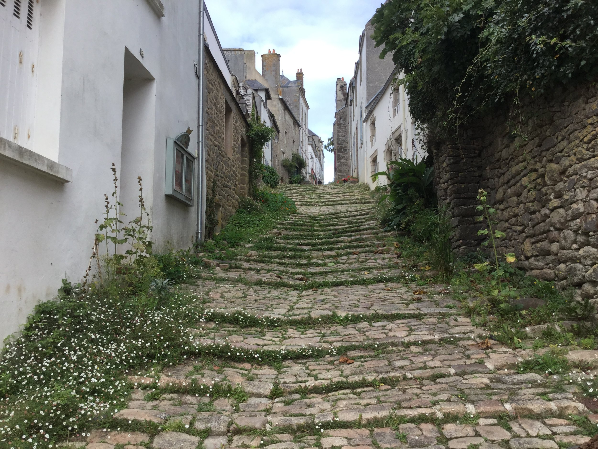 Cobbled streets in Pont-Croix
