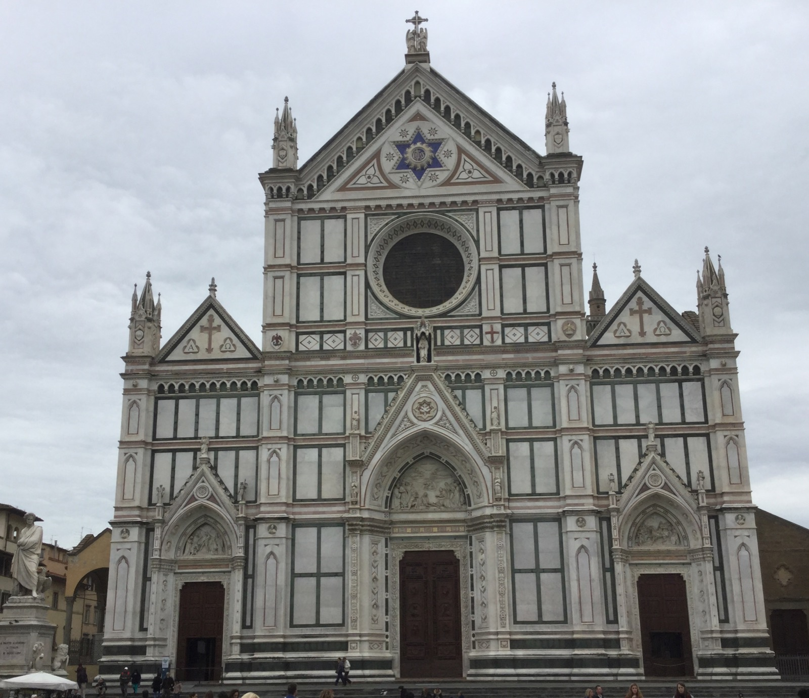The luscious facade of Santa Croce
