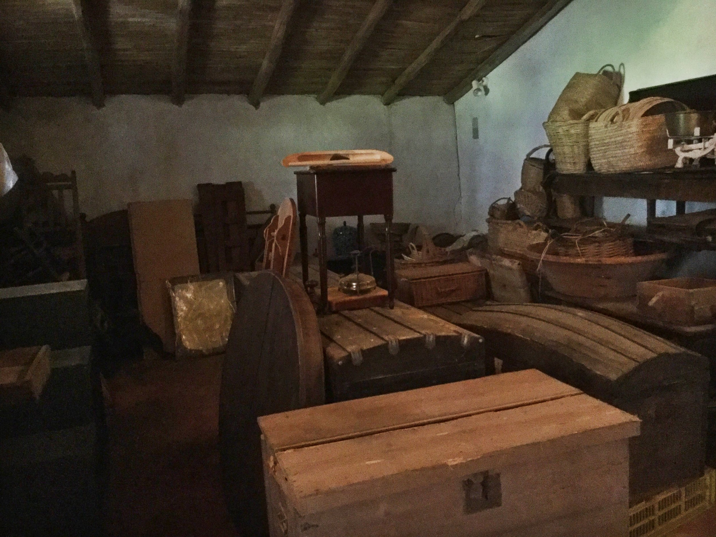The storeroom, half empty