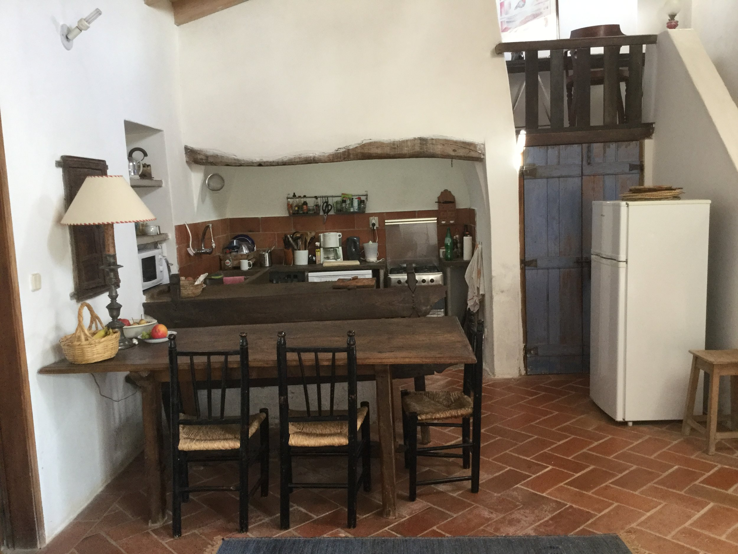 The kitchen, dining room and pantry
