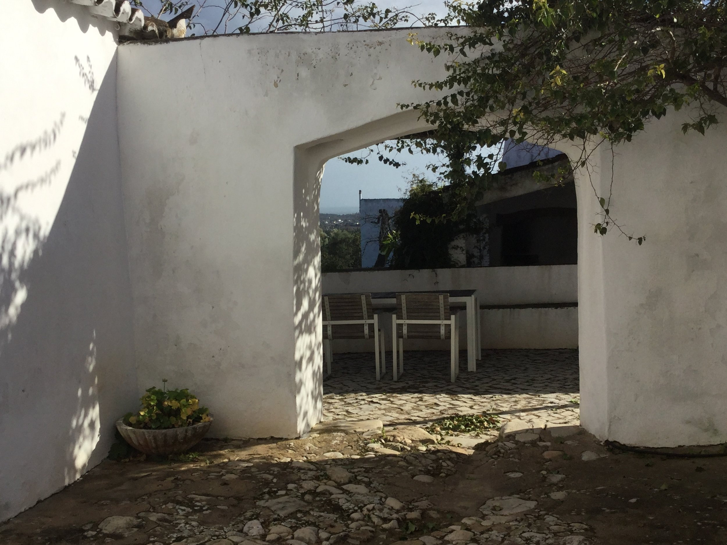 Private terrace. There is an additional bedroom and bath in a separate building off the terrace