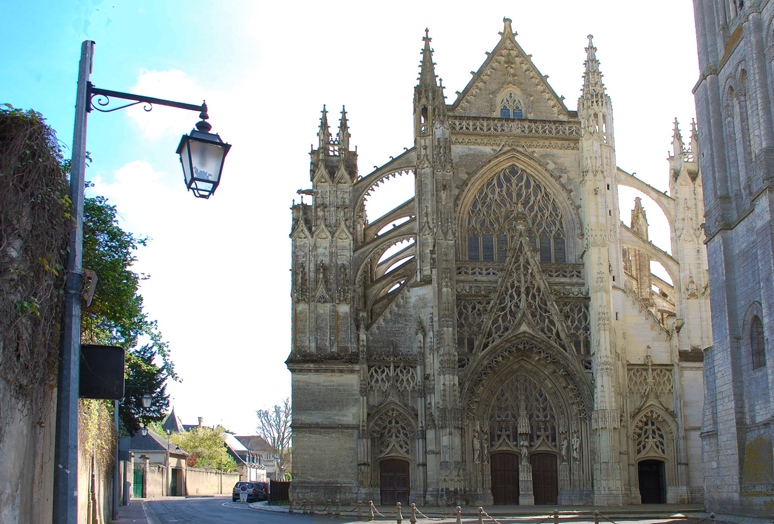 Cathedral of Vendôme, partially cleaned