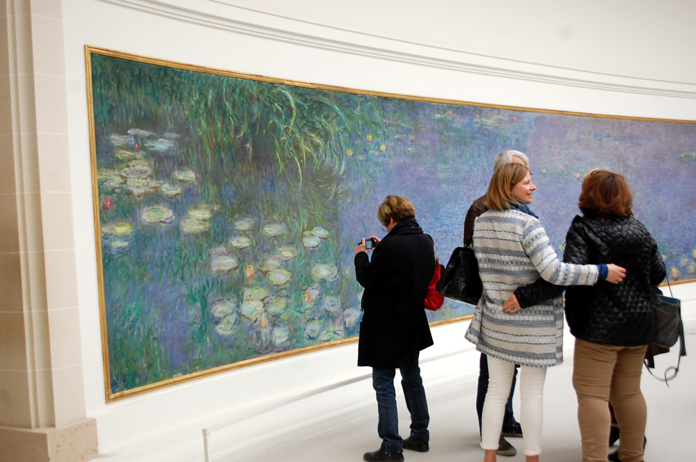Our friend Nelly captures Monet's brush strokes