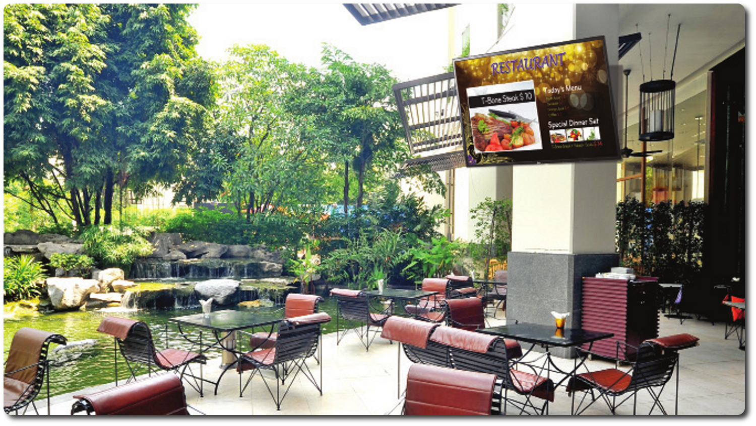 Outdoor Digital Signage   Can provide a wealth of information that can be easily updated.