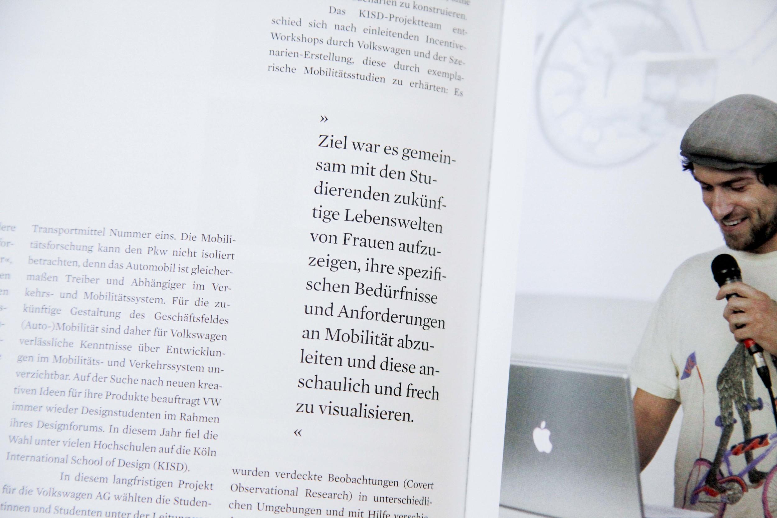 Artikel im Jahrbuch der Köln International School of Design 2009