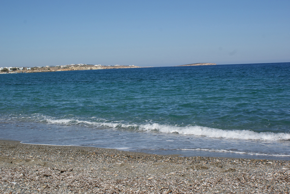 One of the many beaches of Paros Island , Greece
