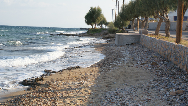 A small rocky shoreline in the Greek Islands, ideal for collecting.
