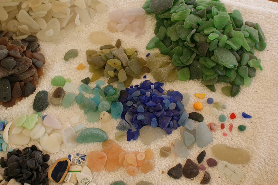 SOME OF THE FABULOUS PIECES OF SEA GLASS WE FOUND THIS SUMMER IN THE GREEK ISLANDS