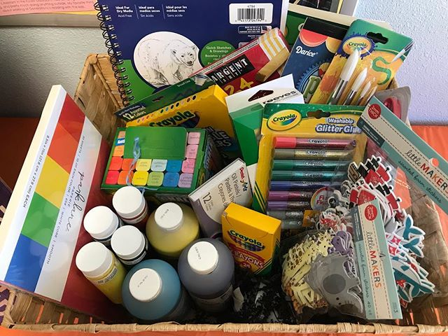 Let your little Picasso shine with the Children's Art Basket! This $100 Basket has everything they need for their next masterpiece. Get your $5 raffle tickets in starting now at the center!