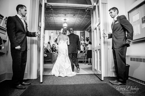 My assistant Sarah caught this great shot as Maria walks up the aisle.