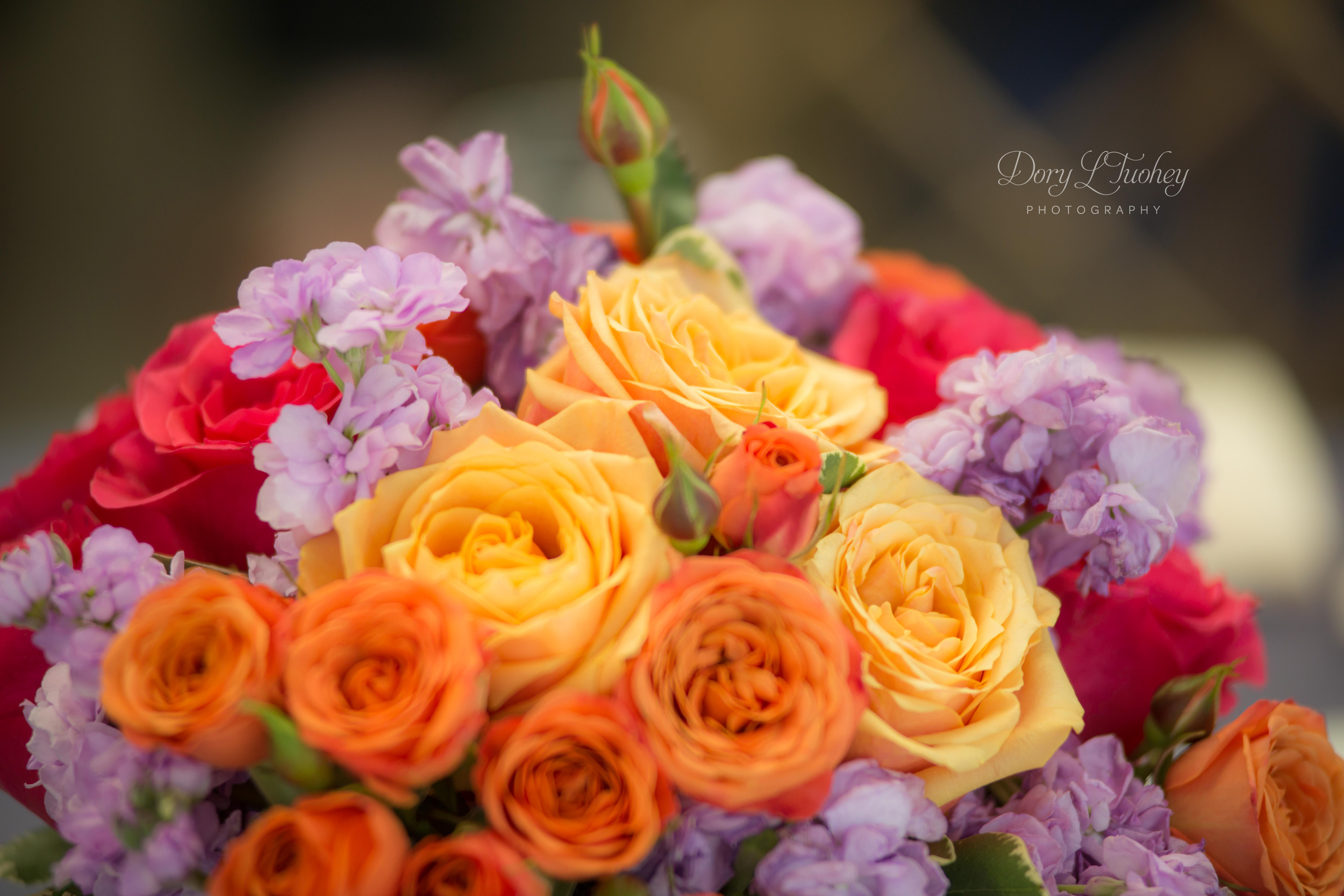 Ah! The colors!! Flowers by  Anna Held Floral Studio .