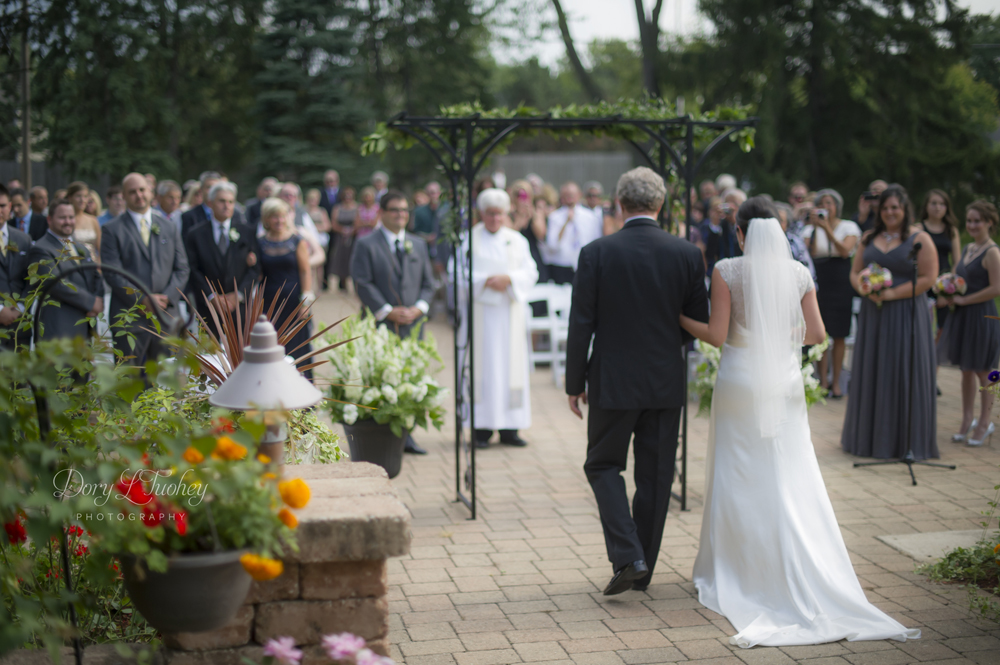 Love this view and approach to the ceremony.