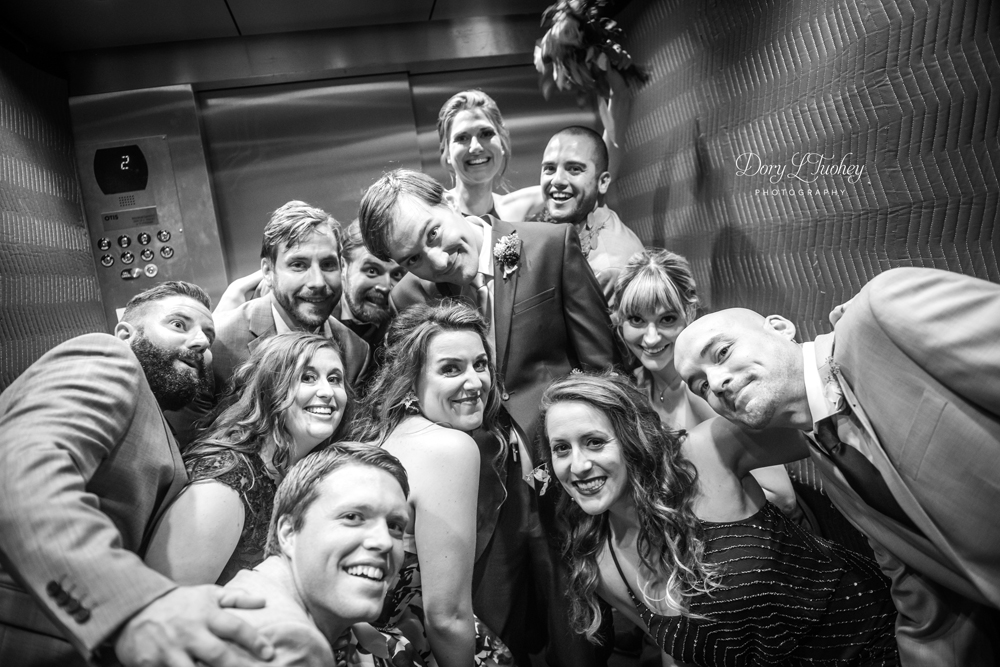 How we managed to squeeze this many people into one shot inside an elevator... I'll never know.