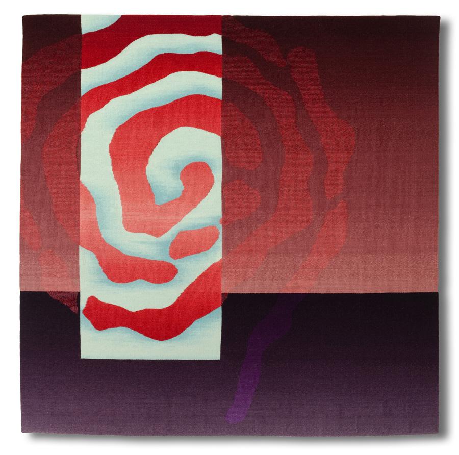 Rebecca Mezoff  Emergence VII  45 x 45 inches hand-dyed wool tapestry $5800 photo: Cornelia Theimer Gardella