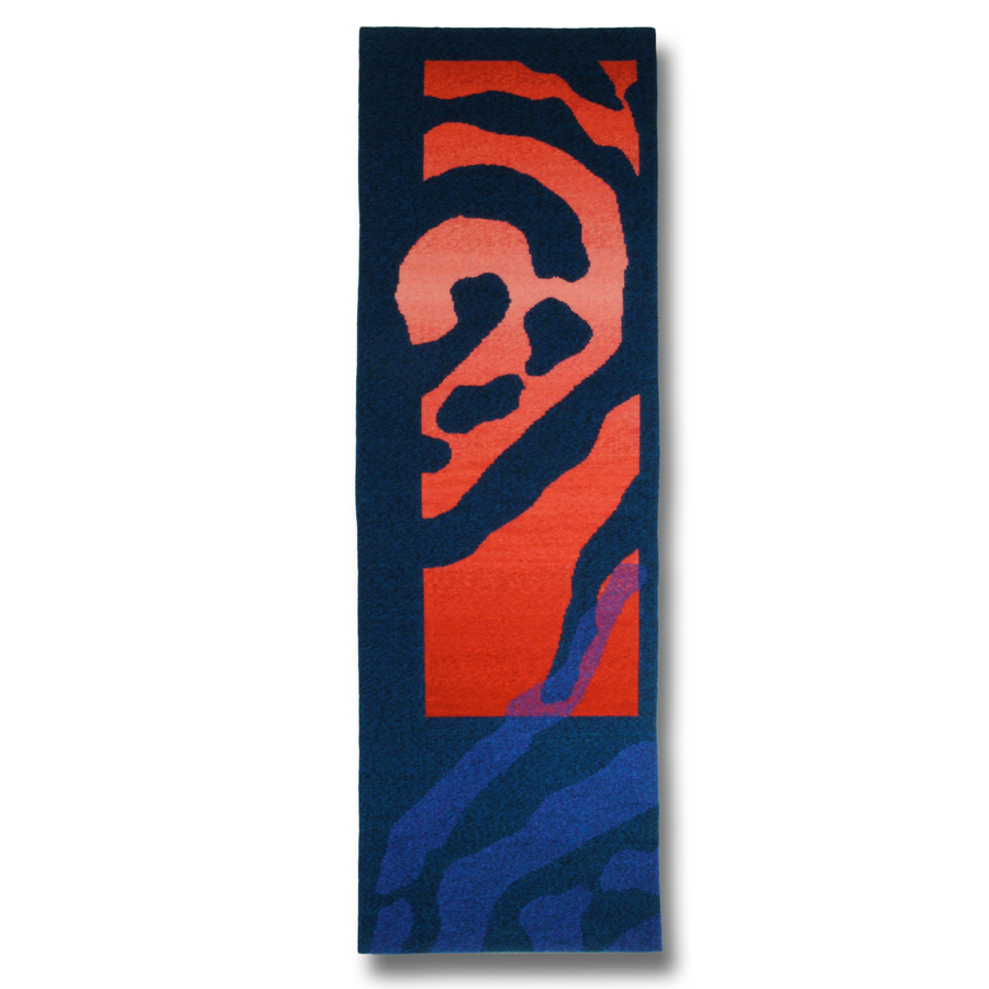 Rebecca Mezoff  Emergence IV  15 x 46 inches hand-dyed wool tapestry $1900 photo: the artist