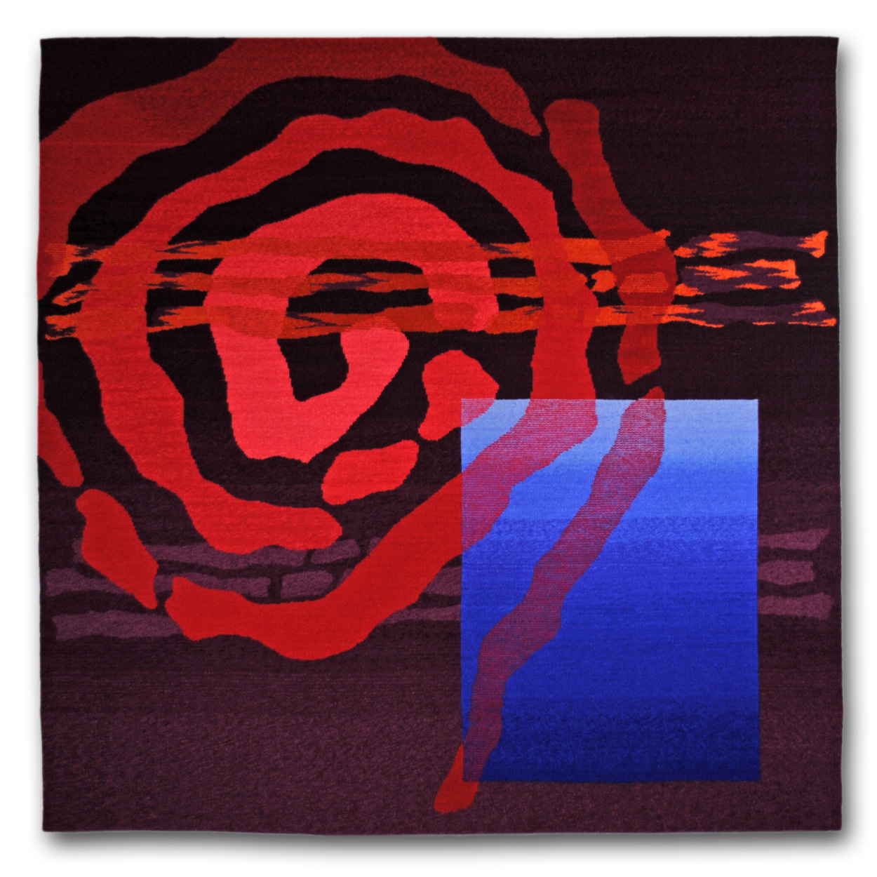 Rebecca Mezoff  Emergence II  45 x 45 inches hand-dyed wool tapestry Public collection: Craig College, CO photo: the artist
