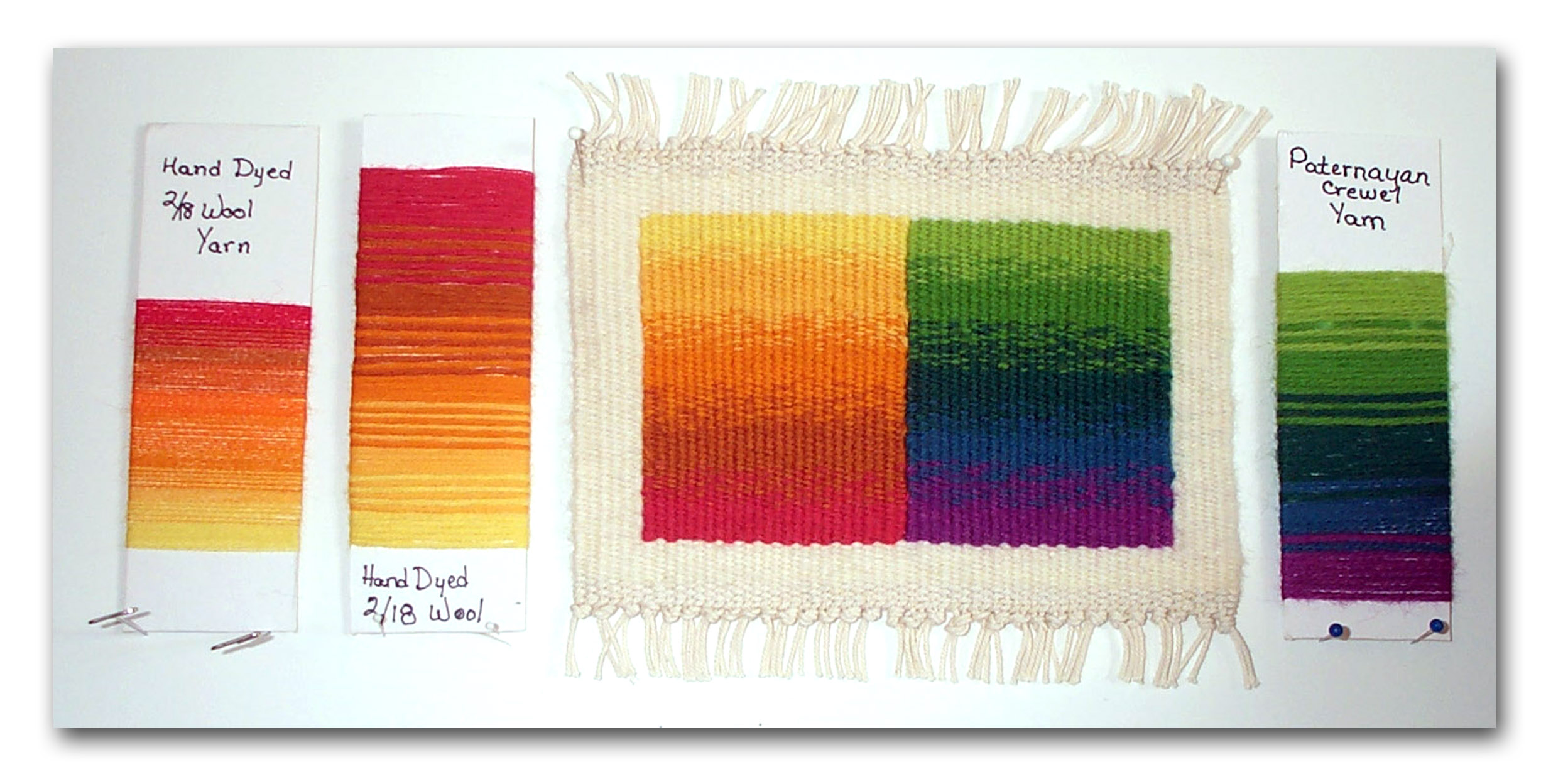 Sue Bassett, vertical gradation work from Color Gradation Techniques course