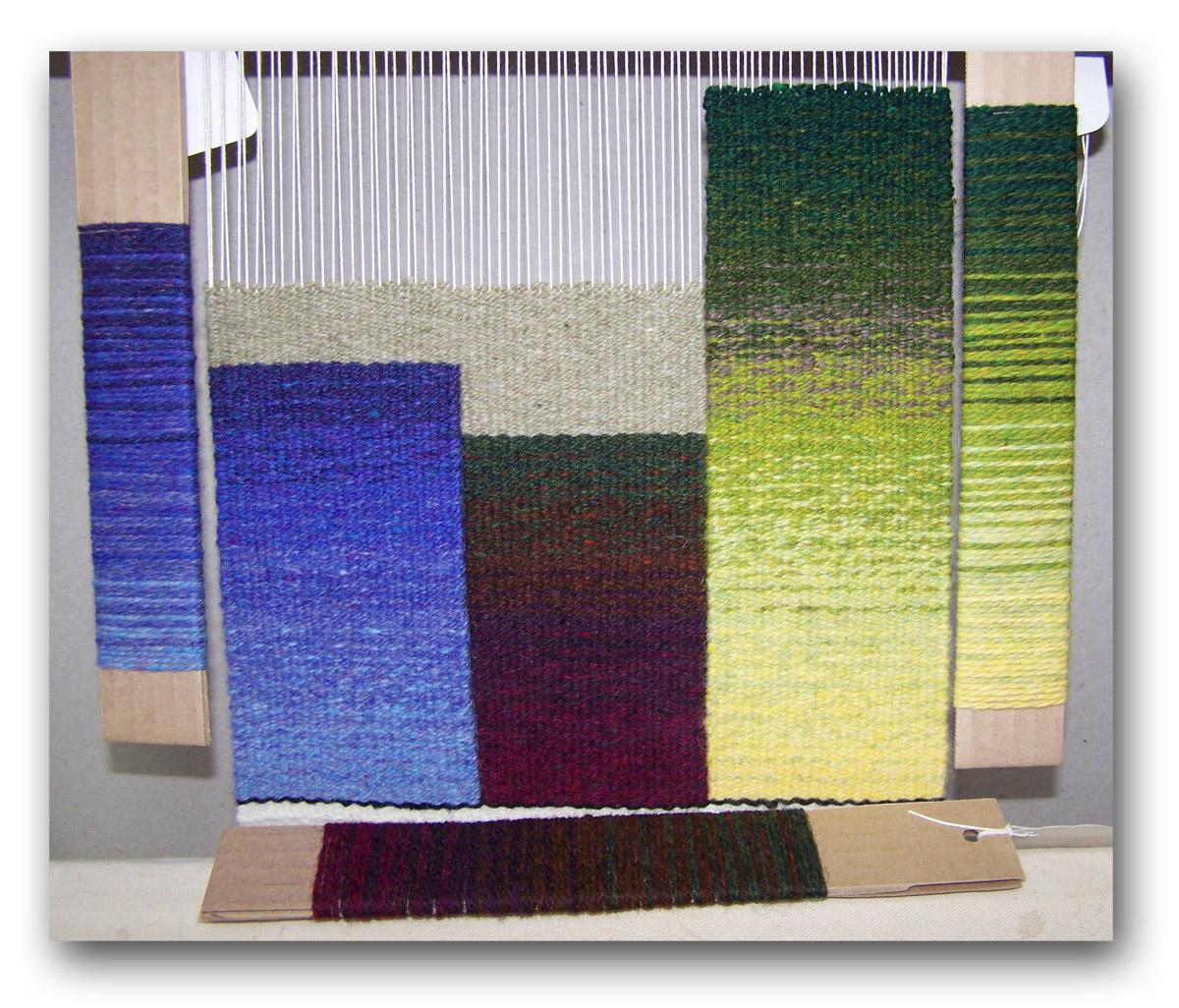 Gradation sampler by Nancy Kramer, Color Gradation Techniques class