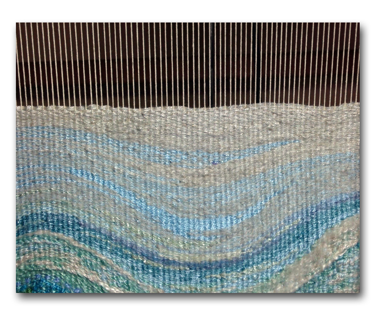 Leslie Whitcomb, eccentric weaving practice from Warp and Weft course