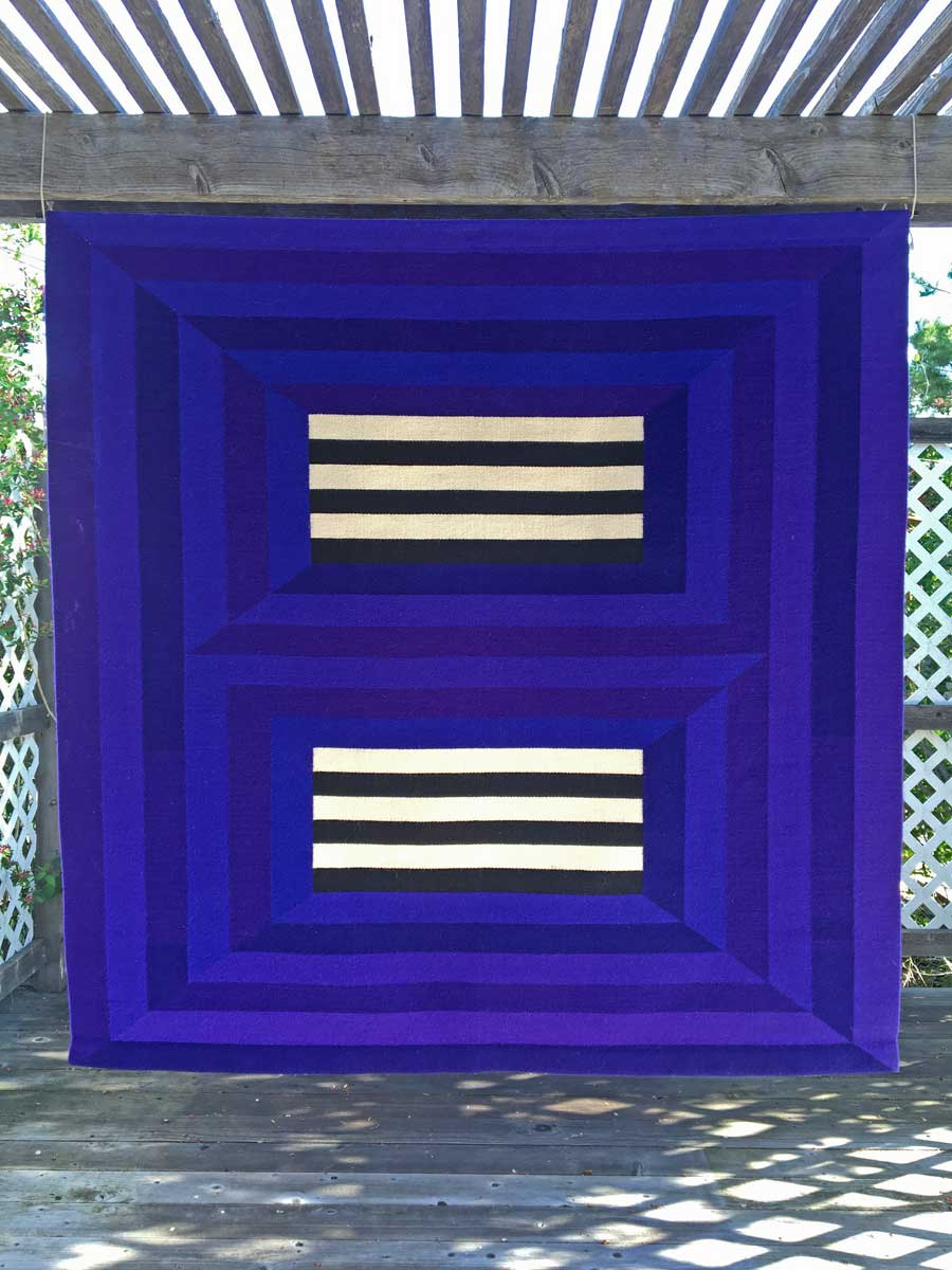 Jeremy Koehler, unknown title, 1995, 60 x 60 inches, tapestry