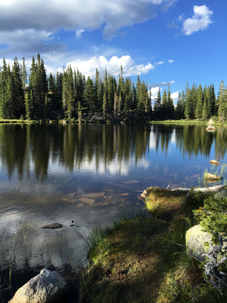 I camped near here at Porcupine Lakes in the Holy Cross Wilderness (11,451 ft).