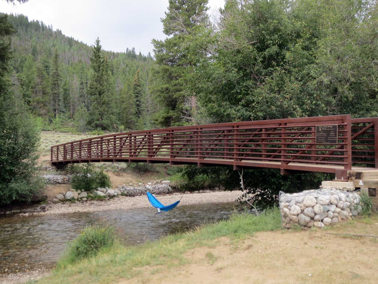 After 8.8 miles, this is the bridge that signals the beginning of the monster 6 miles. I knew it was coming and I really just wanted to jump in that hammock.