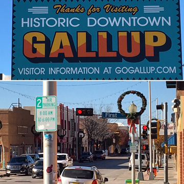 I grew up in Gallup, NM. It doesn't change much, though this sign was new.