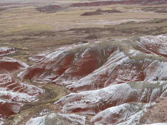 Snow on the painted desert, 11/28/16