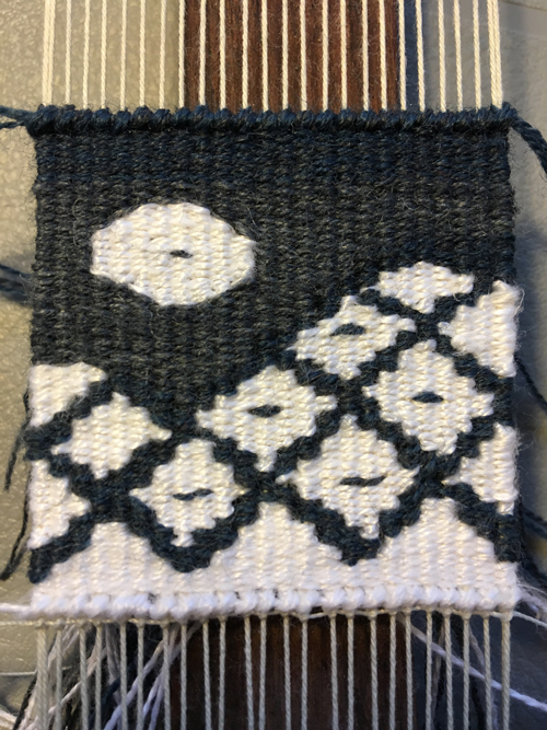 Rebecca Mezoff. Day #16. The white in this weaving is linen.