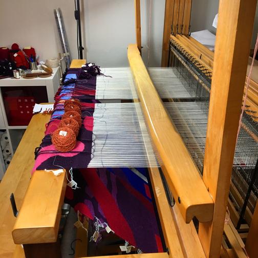 Emergence VIII on the loom