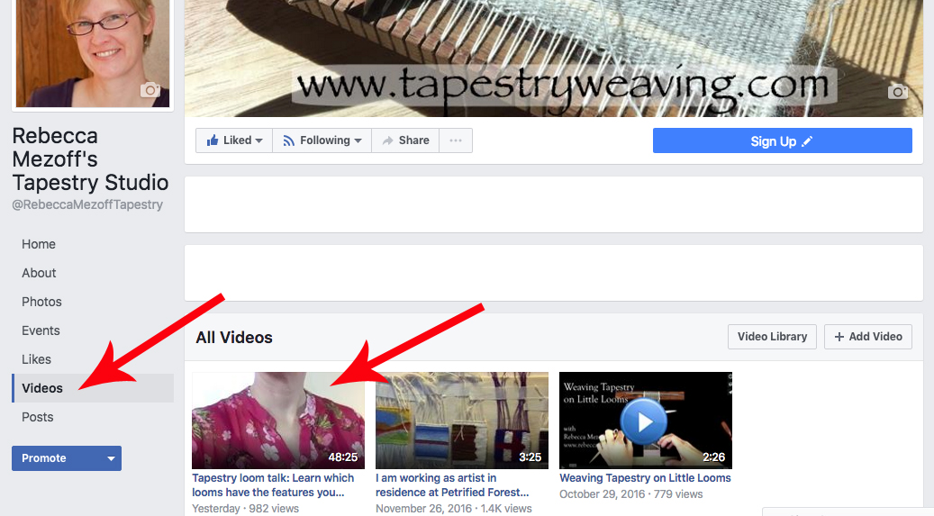 On my  business page , look for the link to videos and then look for the one with my pink shirt.