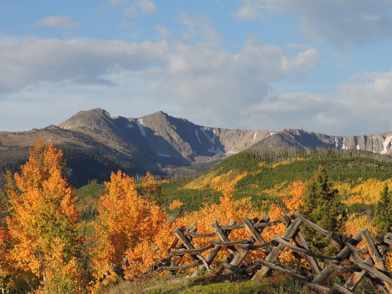 Colorado State University's Mountain Campus is situated at 9,000 feet elevation beneath the Mummy Range in Rocky Mountain National Park.
