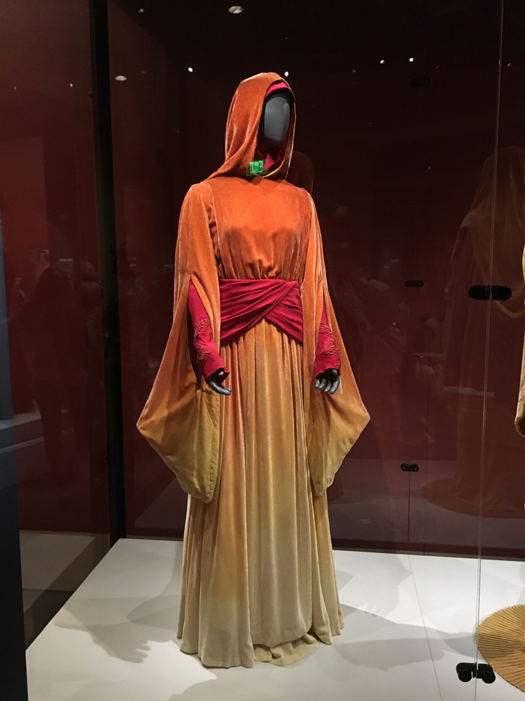 Ombre travel gown.