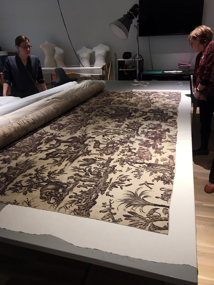 18th century cotton wall covering, Denver Art Museum collection