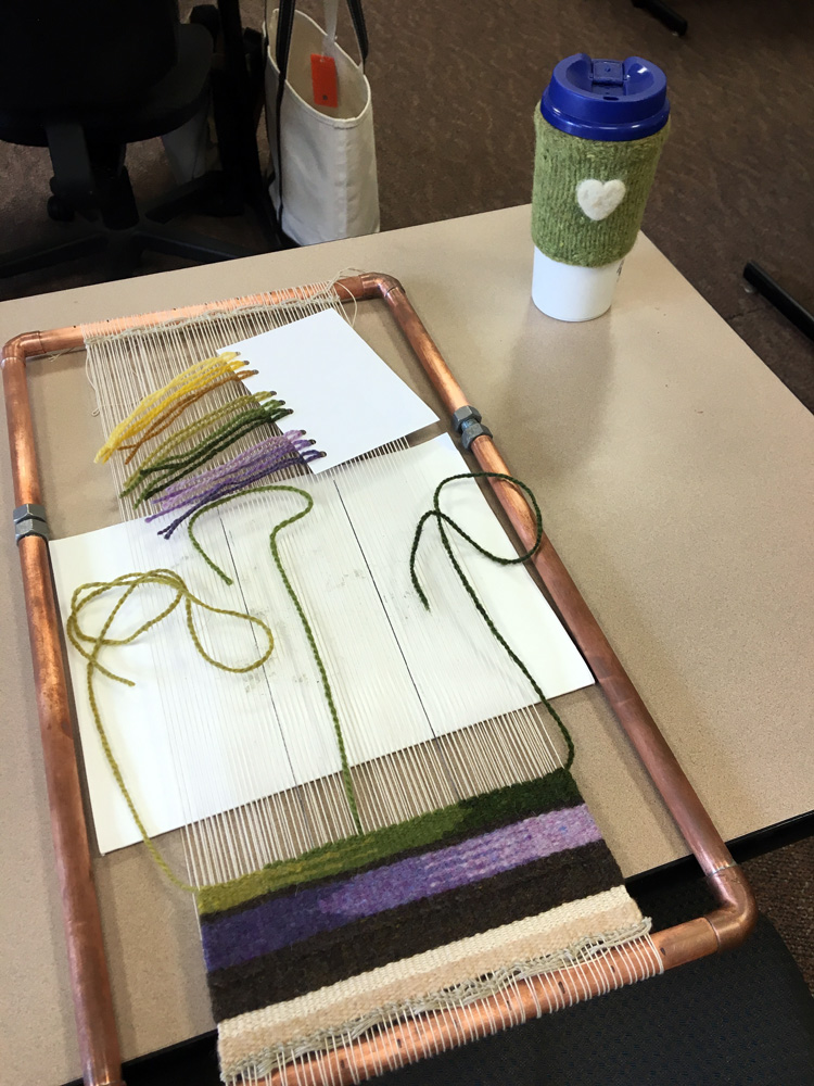 Kelli Dossett wove a beautiful sample with value and blending experiments.
