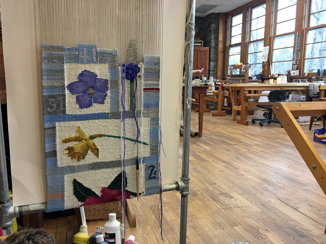 Tommye Scanlin, 2017 tapestry diary in process, Penland School of Crafts