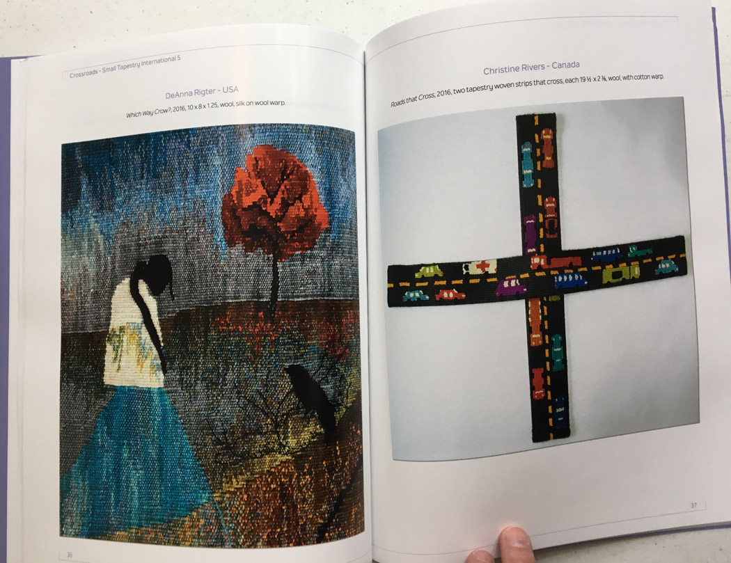 DeAnna Rigter, Which Way Crow? (left); Christine Rivers, Roads that Cross