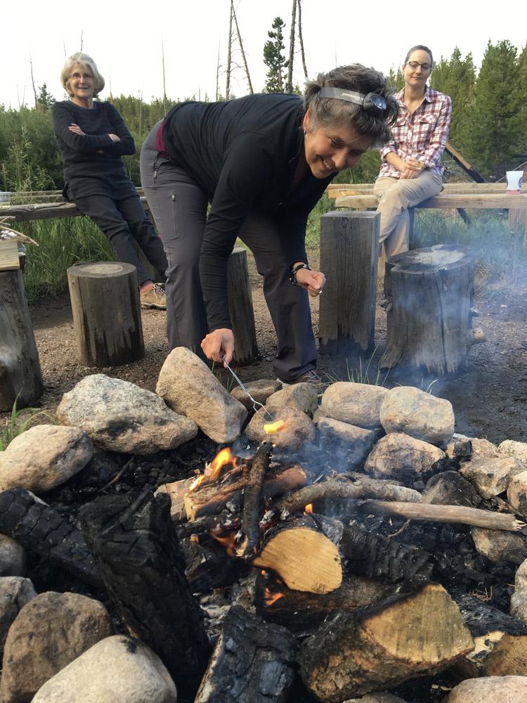 Carol was game for the Starburst roasting