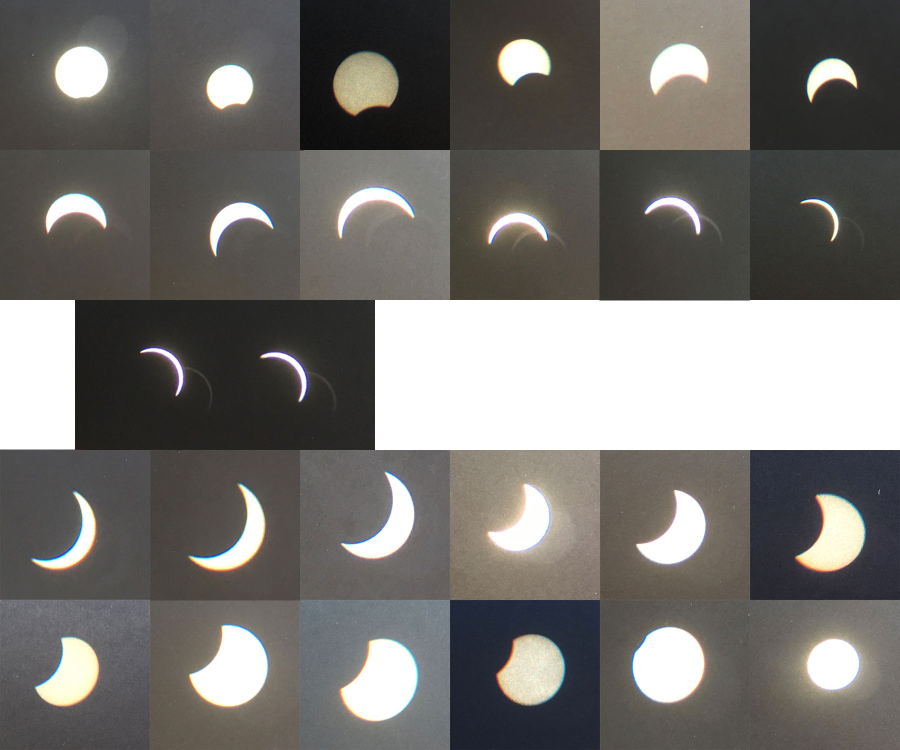 August 21, 2017 solar eclipse from Fort Collins, Colorado, USA.