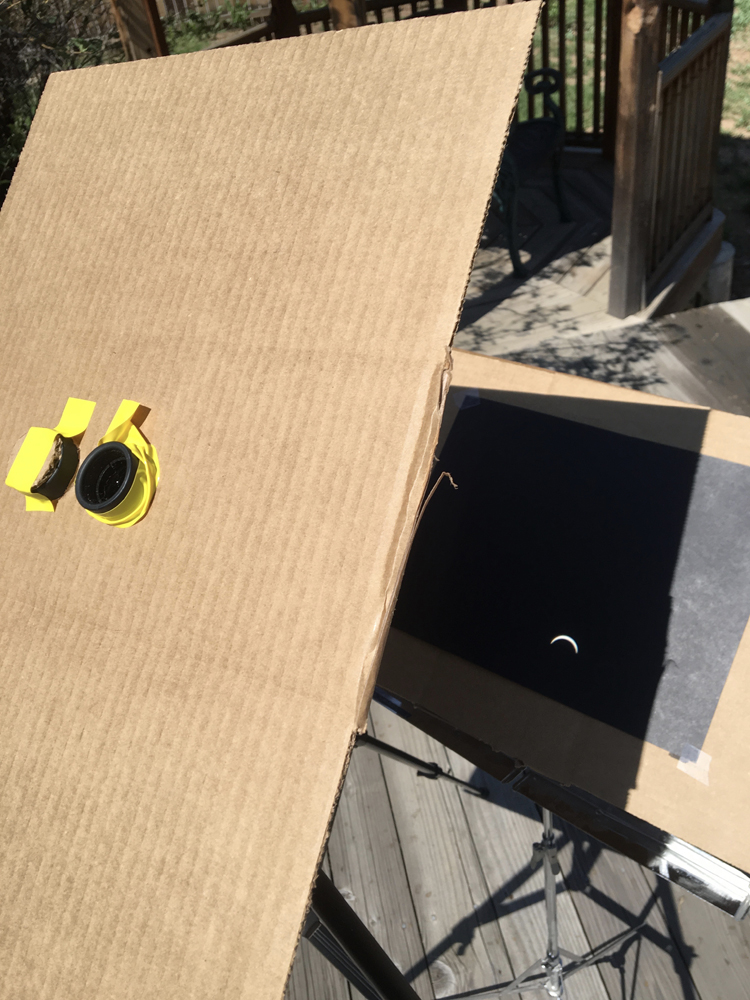 Eclipse viewer at 95% totality in Fort Collins, Colorado