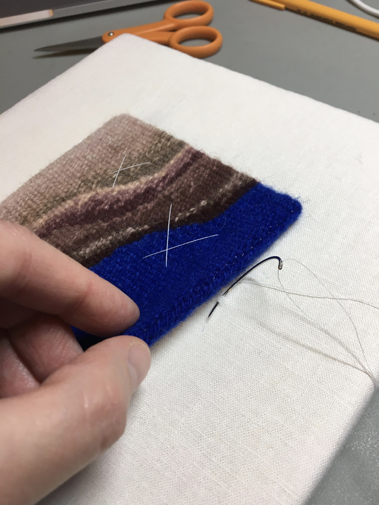Finishing the stitching