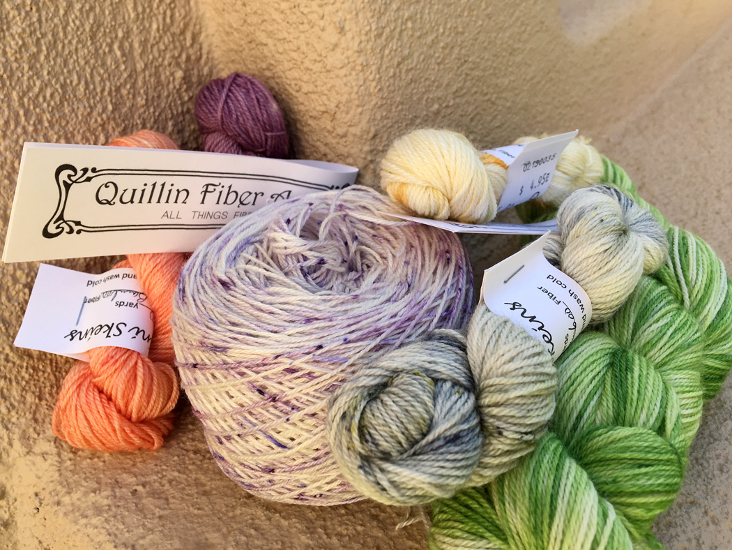 Yarn made by Dedri Quillin and sold at  Quillin Fiber Arts  in Las Cruces, NM