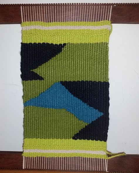 Patty Dodge, first tapestry from Weaving Tapestry on Little Looms online course