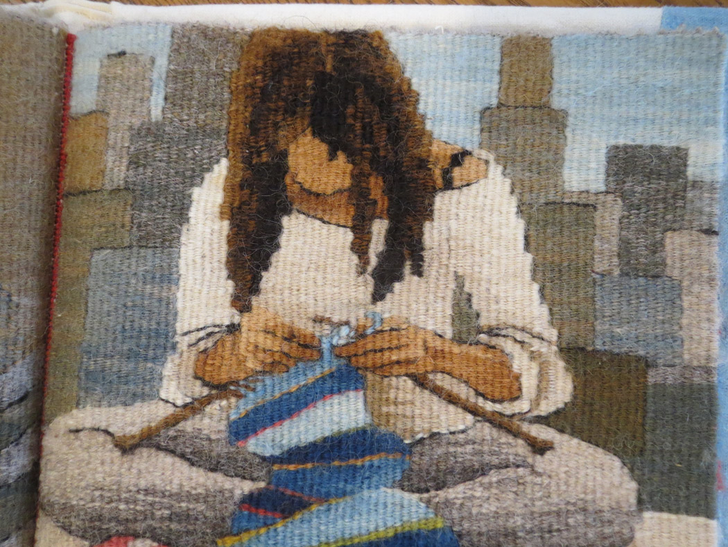Sarah Swett, Casting Off (detail), tapestry